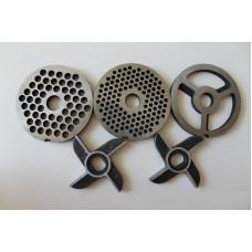 Комплект ножей и решеток, для мясорубки МИМ-600(без бурта)